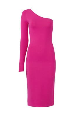 Ribbon Pink Knit Dress by Diane von Furstenberg