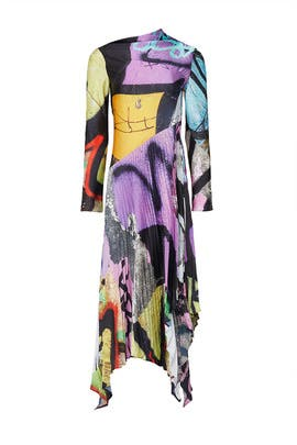 Grafitti Print Pleated Dress by Marques' Almeida