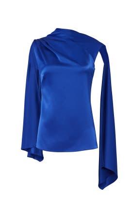 Blue Adena Top by Osman