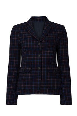 Nancie Check Blazer by rag & bone