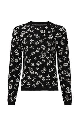Black Floral Sweater by Sandy Liang