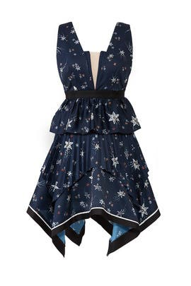 Star Handkerchief Dress by Self-portrait