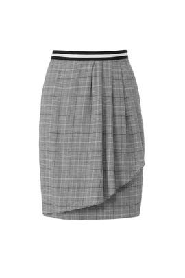 Grey Plaid Wrap Skirt by Slate & Willow
