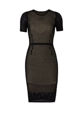 Perforated Mesh Dress by John + Jenn