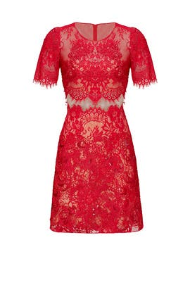 Red Diane Dress by Marchesa Notte