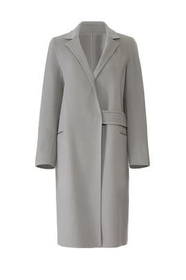 Grey Notch Collar Coat by Victor Alfaro