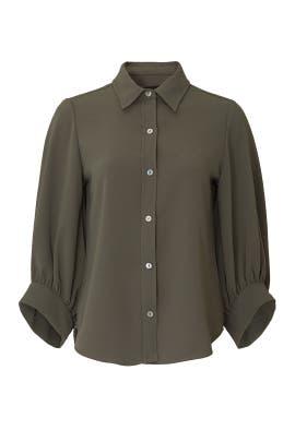Olive Blouson Sleeve Shirt by Fifteen Twenty