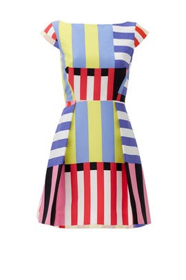 Multi Stripe Kite Bow Back Dress by kate spade new york