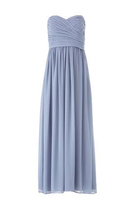 Blue Madeline Gown by Monique Lhuillier Bridesmaid