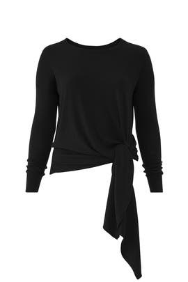 Black Arenal Front Tie Sweater by Universal Standard