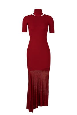 Burgundy Selima Dress by Cushnie
