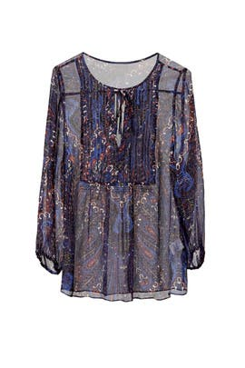 Indigo Paisley Top by Joie