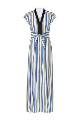 Deep V Tie Front Maxi by Philosophy di Lorenzo Serafini
