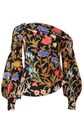 Floral Asymmetric Blouse by Peter Pilotto