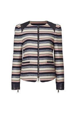 Stanford Stripe Jacket by Rebecca Minkoff