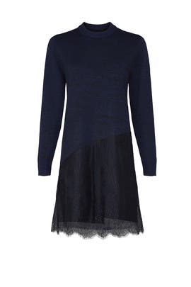Asymmetric Lace Sweater Dress by Thakoon Collective
