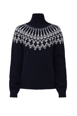 Navy Fair Isle Sweater by Tory Sport