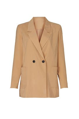 Beige Button Blazer by VERO MODA