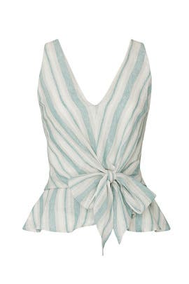Behati Stripe Tie Top by Adelyn Rae
