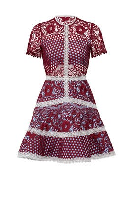 Burgundy Rustikan Dress by Alexis