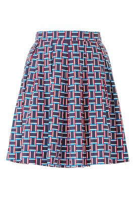 Geo Pleated Skirt by Draper James X ELOQUII