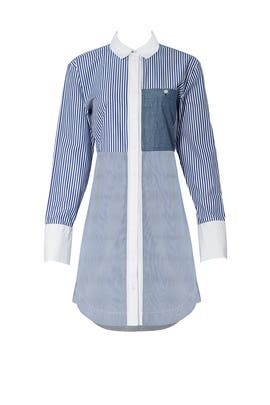Blue Striped Jay Dress by Elizabeth and James