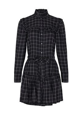 Ruffle Plaid Dress by La Vie Rebecca Taylor