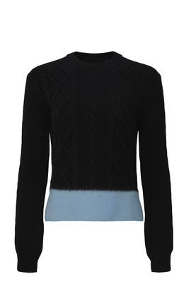 Contrast Hem Sweater by Marni