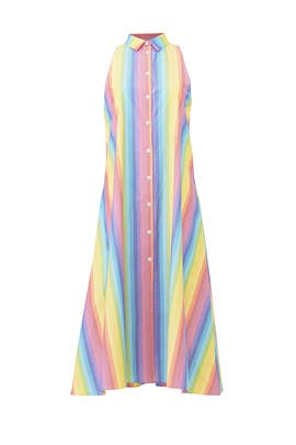 Multi Stripe Shirtdress by MDS Stripes