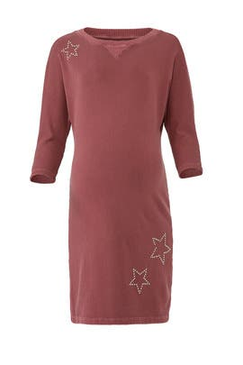 Star Sweatshirt Maternity Dress by MONROW