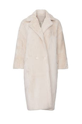 Beige Estelle Faux Fur Coat by NOIZE