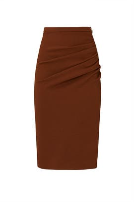 Ruched Pencil Skirt by Rochas