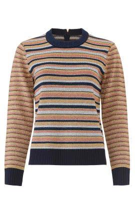 Lurex Stripe Sweater by Tory Burch