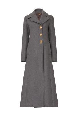 Dark Cloud Wool Coat by Tory Burch
