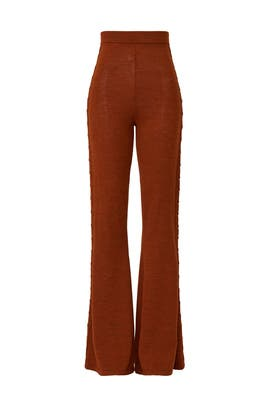 Cable Knit Flare Pants by Victor Glemaud