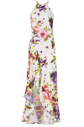 White Floral Maxi Dress by Jay Godfrey
