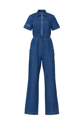 Charlie Fashion Denim Jumpsuit by KENDALL + KYLIE