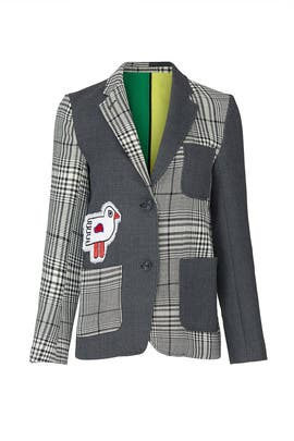 Patched Plaid Blazer by Mira Mikati