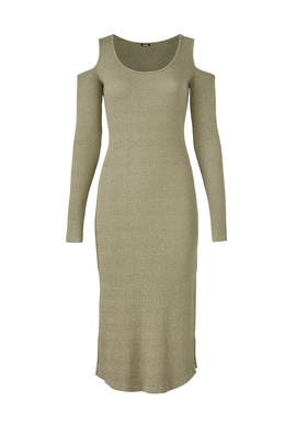 Army Ribbed Dress by MONROW