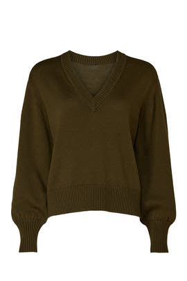 Olive V-Neck Sweater by Marissa Webb Collective