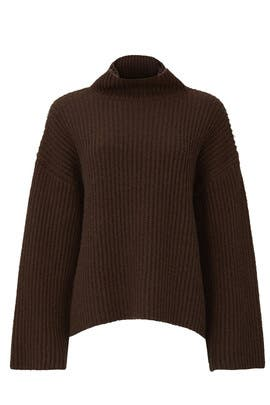 Brown Oversized Bell Sleeve Sweater by Sweet Baby Jamie