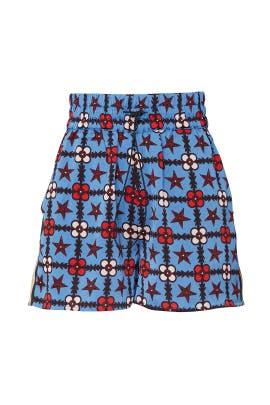 Silky Printed Shorts by Scotch & Soda