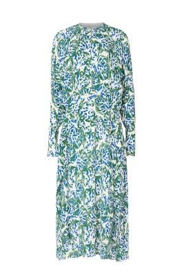 Long Sleeve Drape Dress by Victoria Victoria Beckham
