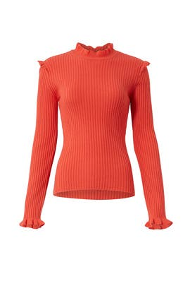 Coral Fitted Sweater by Derek Lam 10 Crosby