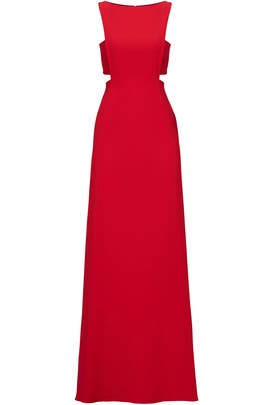 Cherry Cut Out Gown by Jill Jill Stuart