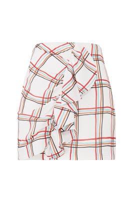 Windowpane Ruffle Skirt by PatBO