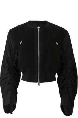 Black Gathered Bomber by 3.1 Phillip Lim