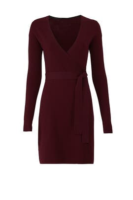 Cabernet Knit Wrap Dress by Diane von Furstenberg