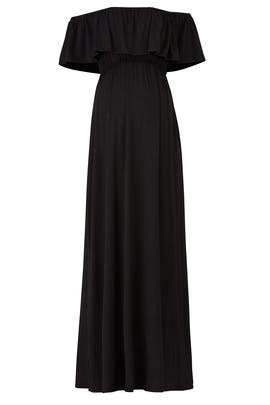 Black Off Shoulder Maternity Maxi by Ingrid & Isabel