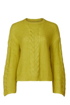 Long Sleeve Cable Knit Sweater by Love, Whit by Whitney Port
